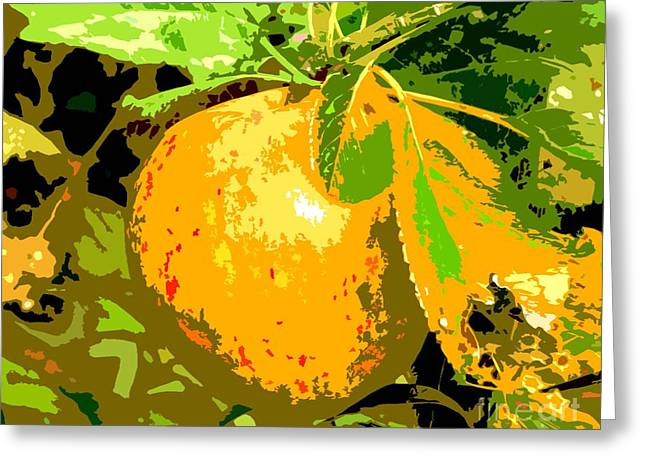Fruit Tree Art Greeting Cards - Juicy Apple On A Tree Greeting Card by Patrick J Murphy