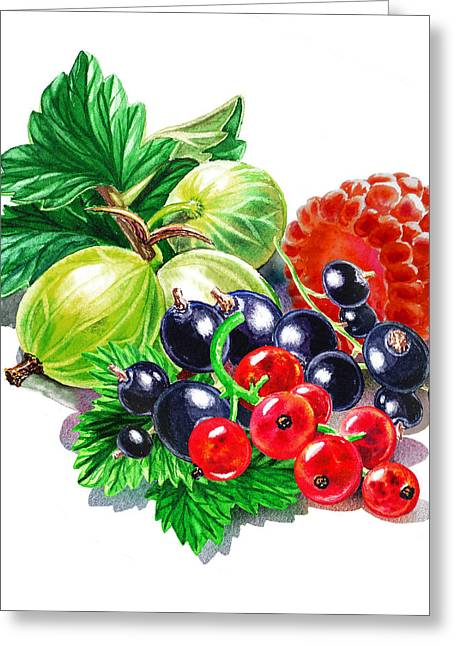 Purchase Greeting Cards - Juicy Berry Mix  Greeting Card by Irina Sztukowski