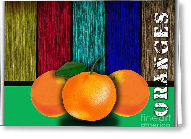 Fruits Greeting Cards - Juicy Oranges  Greeting Card by Marvin Blaine