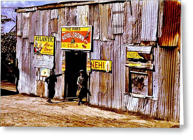 Plight Greeting Cards - Juke Joint Greeting Card by Benjamin Yeager