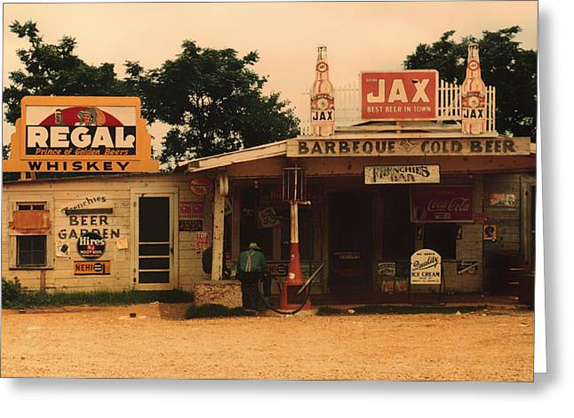 Juke Joint Greeting Cards - Juke Joint in Melrose Louisiana 1939 Greeting Card by Mountain Dreams