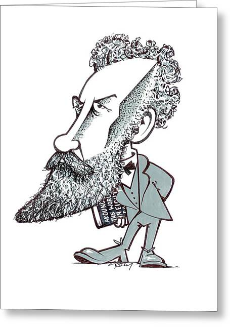 Jules Verne Greeting Card by Gary Brown