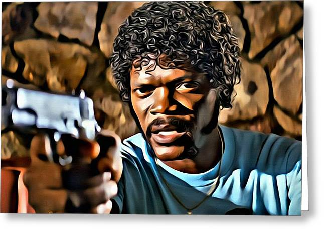 Samuel L Jackson Greeting Cards - Jules Winnfield Greeting Card by Florian Rodarte