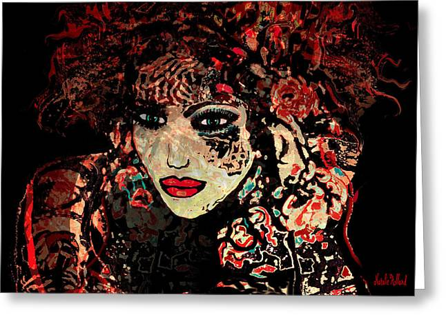 Designers Choice Mixed Media Greeting Cards - Julia Greeting Card by Natalie Holland