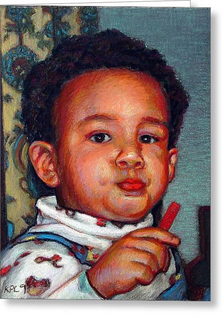 Awesome Pastels Greeting Cards - Julian Greeting Card by Kenneth Cobb