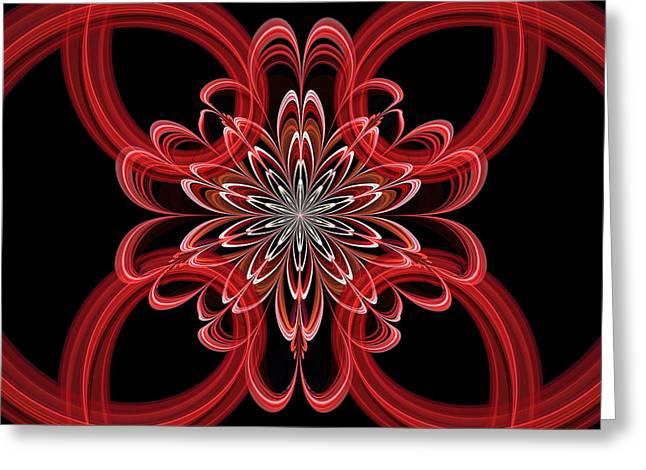 Geometric Digital Art Greeting Cards - Julian Rings Greeting Card by Sandy Keeton