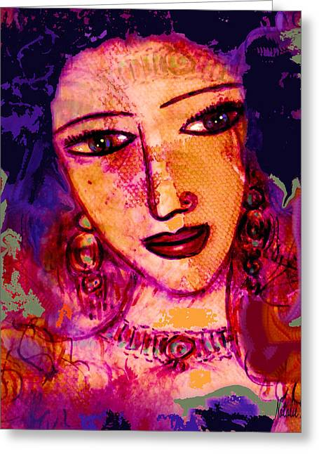 Fleshtones Greeting Cards - Juliana Greeting Card by Natalie Holland