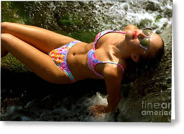 Gingrich Photo Greeting Cards - Julie Lay Waterfall Greeting Card by Gary Gingrich Galleries