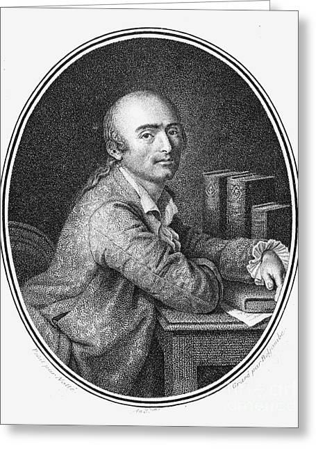 18th Century Greeting Cards - Julien La Mettrie (1709-1751) Greeting Card by Granger