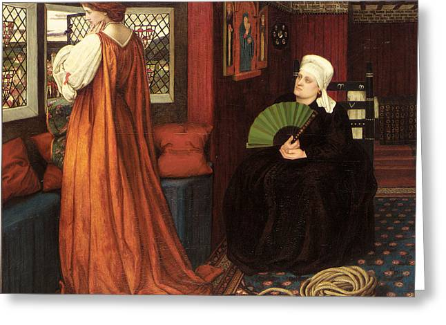 Juliet Greeting Cards - Juliet and the Nurse Greeting Card by John Roddam Spencer Stanhope