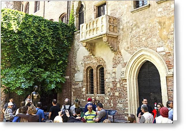 Juliet's Balconey - Verona Italy Greeting Card by Jon Berghoff