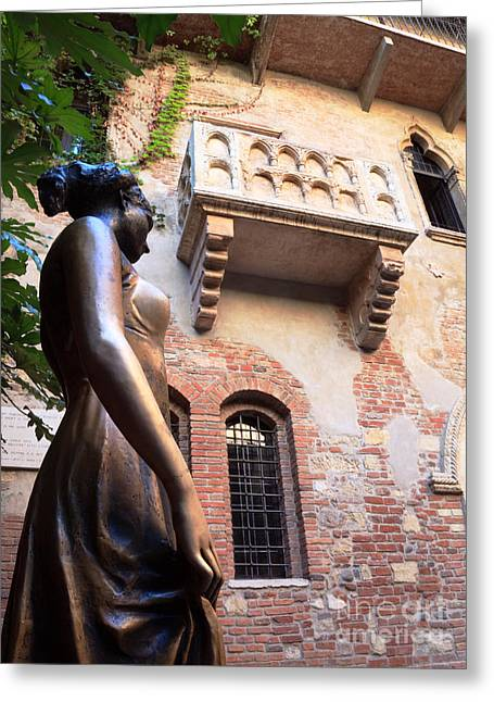 Juliet Greeting Cards - Juliets balcony in Verona Italy Greeting Card by Matteo Colombo