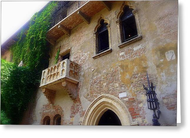 Capulet Greeting Cards - Juliets Balcony in Verona Greeting Card by Jodie Marie Anne Richardson Traugott          aka jm-ART