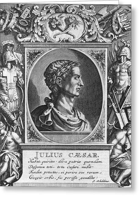 Pages Of Life Photographs Greeting Cards - Julius Caesar, Roman statesman Greeting Card by Science Photo Library
