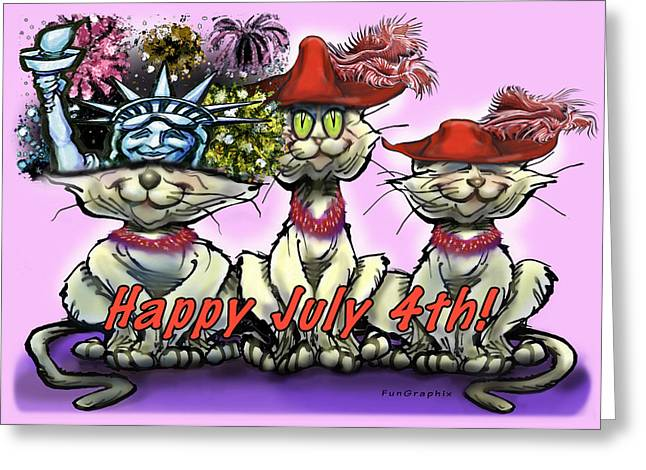 4th July Digital Greeting Cards - July 4th Greeting Card by Kevin Middleton