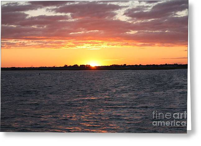 July 4th Sunset Greeting Card by JOHN TELFER