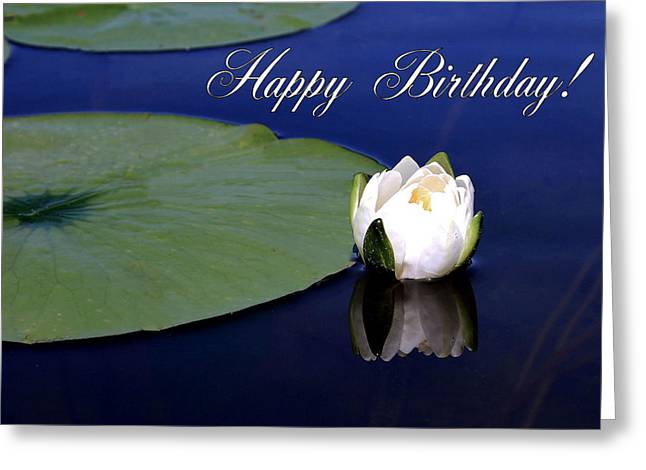 Lily Pad Greeting Cards Greeting Cards - July Birthday Greeting Card by Kristin Elmquist