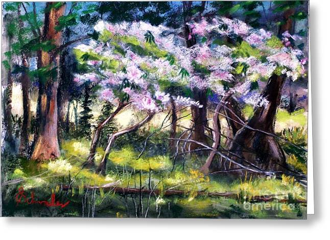 Etc. Pastels Greeting Cards - July Bloom Greeting Card by Bruce Schrader