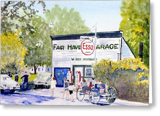 4th July Paintings Greeting Cards - July Fair Haven NY Greeting Card by Carol Burghart