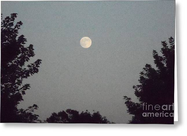 Julymoon Greeting Card by Melissa Baker