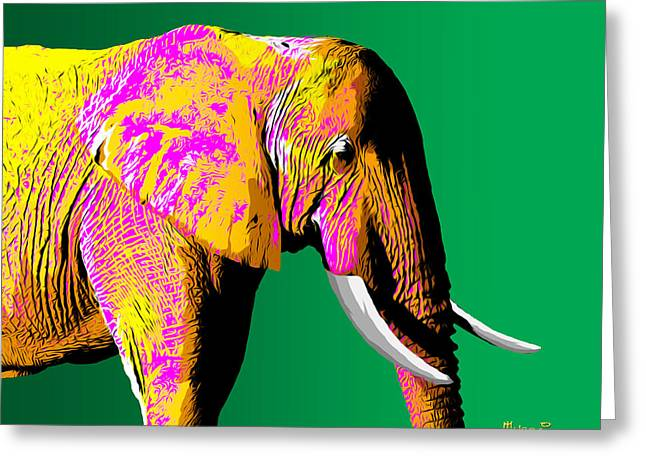 Africa Greeting Cards - Elephant Beauty Greeting Card by Anthony Mwangi