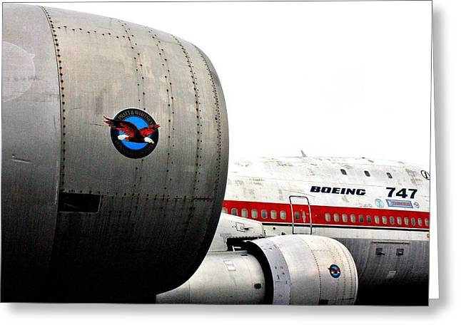 Jumbo Jet Greeting Card by Benjamin Yeager