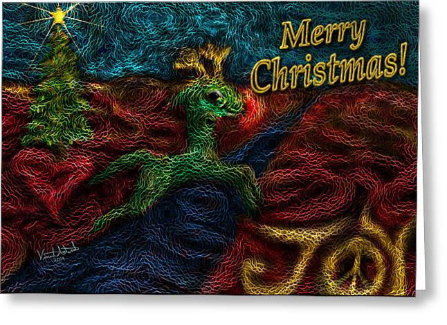 Rudolph Greeting Cards - Jump For Joy Greeting Card by Vincent Autenrieb