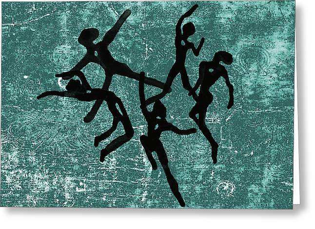 Best Sports Mixed Media Greeting Cards - Jump Greeting Card by Len YewHeng