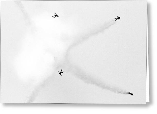 U.s Army Greeting Cards - Skydiving Greeting Card by Mitch Cat