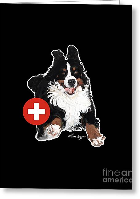 Berner Greeting Cards - Jumpin Jack Flash Dark Greeting Card by Liane Weyers