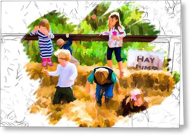Nature Center Greeting Cards - Jumping for Joy Greeting Card by John Haldane