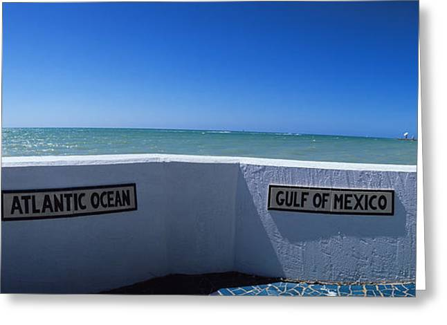 Panoramic Ocean Greeting Cards - Junction Of Atlantic Ocean And Gulf Greeting Card by Panoramic Images