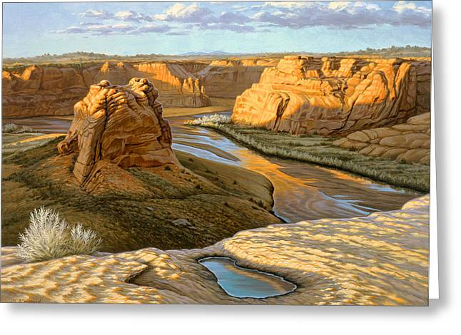 Canyon Country Greeting Cards - Junction Overlook - Canyon DeChelly Greeting Card by Paul Krapf