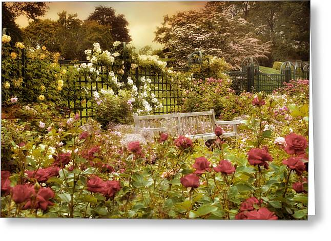 Trellis Digital Greeting Cards - June in Bloom Greeting Card by Jessica Jenney