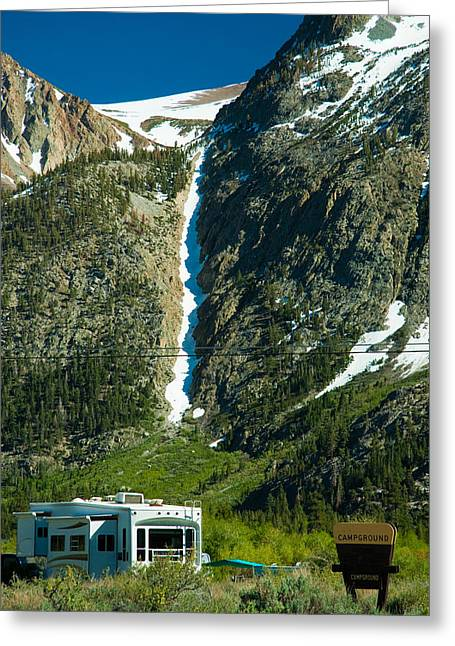 Snowy Mountain Loop Greeting Cards - June Lake Loop landscape Greeting Card by Celso Diniz