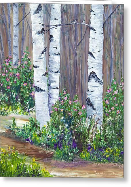 Alaska Greeting Cards - June Roses Greeting Card by Dee Carpenter