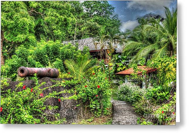 Pirates Greeting Cards - Jungle Cannon Greeting Card by Bob Hislop
