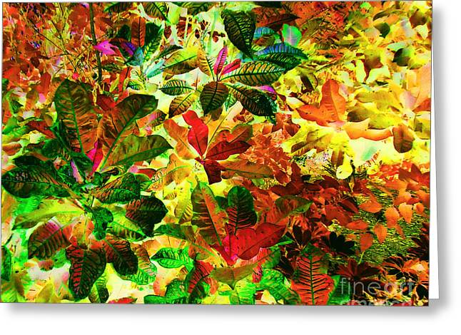 Fanciful Expression Greeting Cards - 	Jungle Fantasy				 Greeting Card by Ann Johndro-Collins
