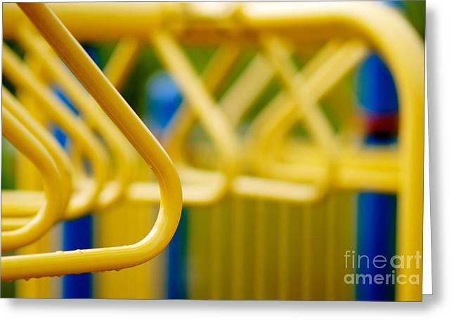 Play Greeting Cards - Jungle Gym at Playground Shallow DOF Greeting Card by Amy Cicconi
