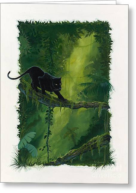 Illuminate Greeting Cards - Jungle Highway Greeting Card by Bill Shelton