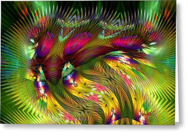 Visual Artist Frank Bonilla Greeting Cards - Jungle Of Color Greeting Card by Visual Artist  Frank Bonilla