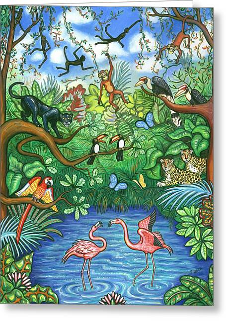 Mccaw Greeting Cards - Jungle Two Greeting Card by Linda Mears