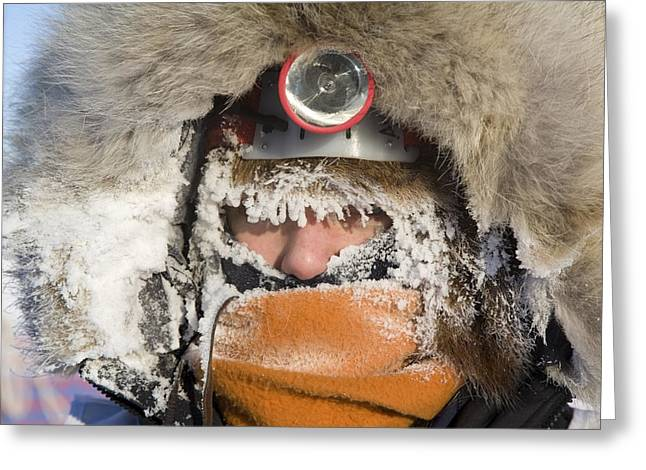 Iditarod Greeting Cards - Junior Iditarod Musher Ava Lindner Greeting Card by Jeff Schultz