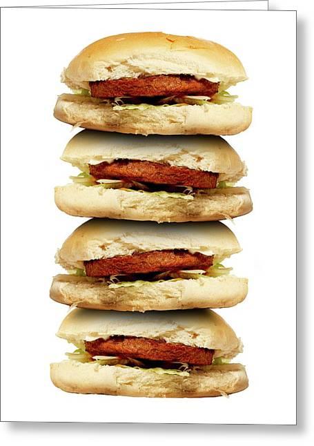 Junk Food Greeting Card by Victor De Schwanberg