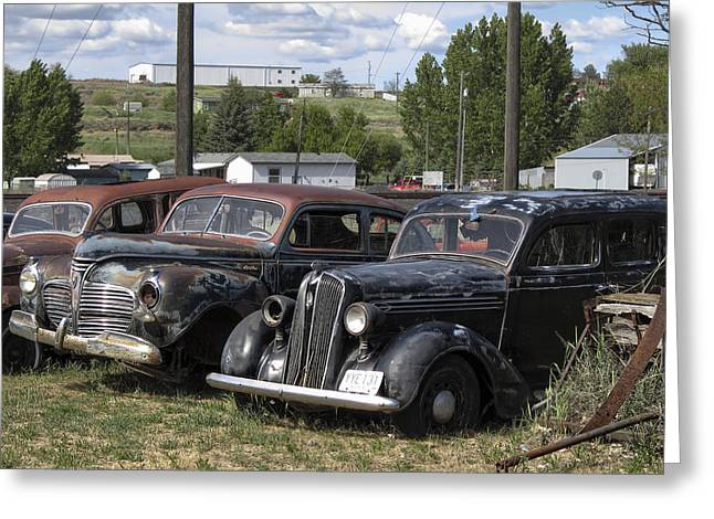 Rusted Cars Greeting Cards - JUNK or TREASURE Greeting Card by Daniel Hagerman