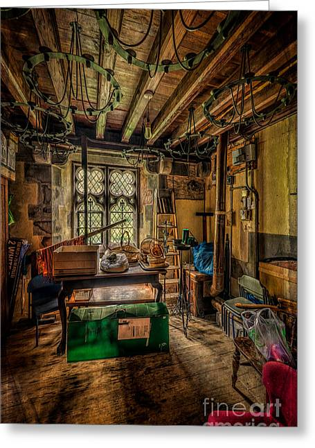 Boiler Greeting Cards - Junk Room Greeting Card by Adrian Evans