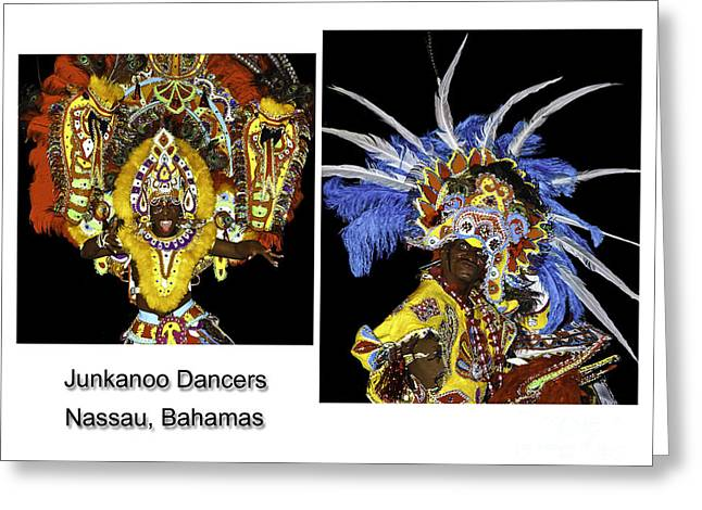 Junkanoo Dancers Greeting Card by Phil Cardamone