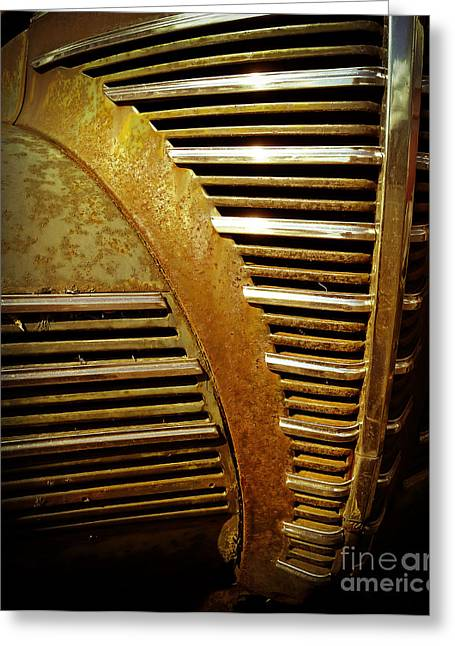 Junker Greeting Cards - Junker Car Grill Greeting Card by Edward Fielding