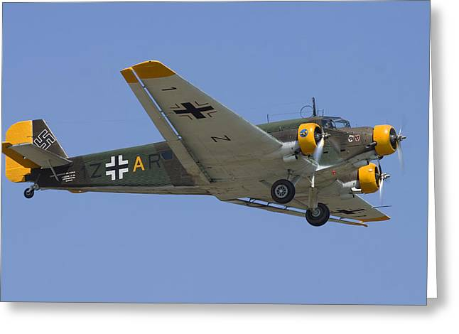 Air Shows Greeting Cards - Junkers Ju-52 Greeting Card by Adam Romanowicz