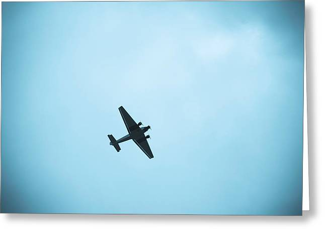 Ju 52 Greeting Cards - Junkers Ju 52 Aircraft Flying Greeting Card by Panoramic Images